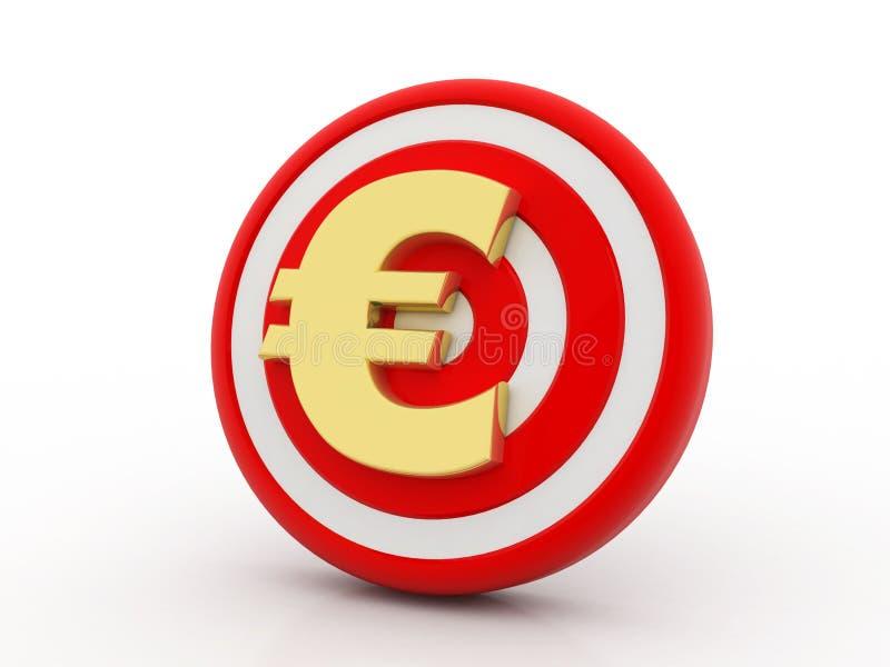 Концепция нацеливания валюты евро, перевода 3d бесплатная иллюстрация