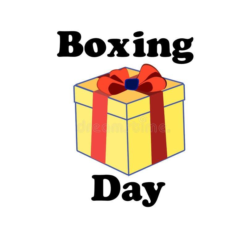 Концепция на день рождественских подарков на изолированной предпосылке, векторе стоковые изображения rf