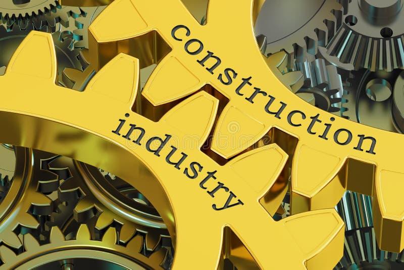 Концепция на шестернях, строительной промышленности перевод 3D бесплатная иллюстрация