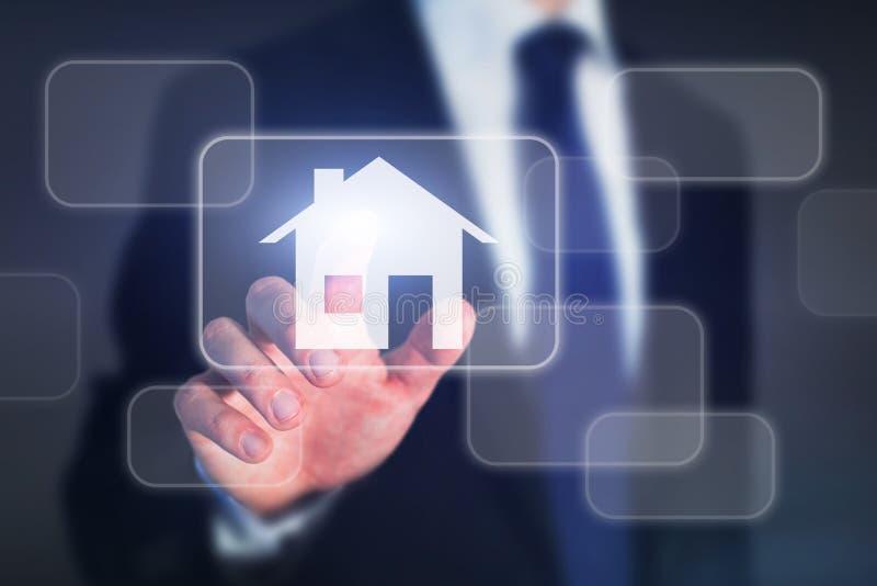 Концепция недвижимости, дом покупки стоковые изображения rf