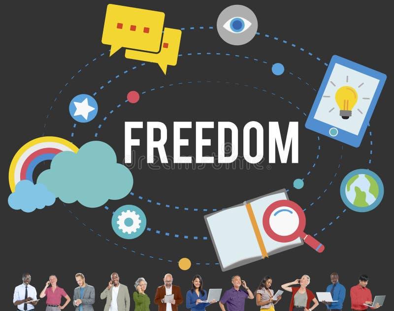 Концепция независимости раскрепощения воодушевленности свободы свободная бесплатная иллюстрация