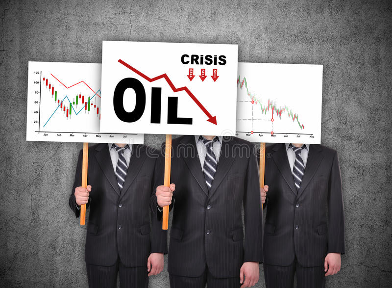 Концепция нефтяного кризиса стоковое фото rf