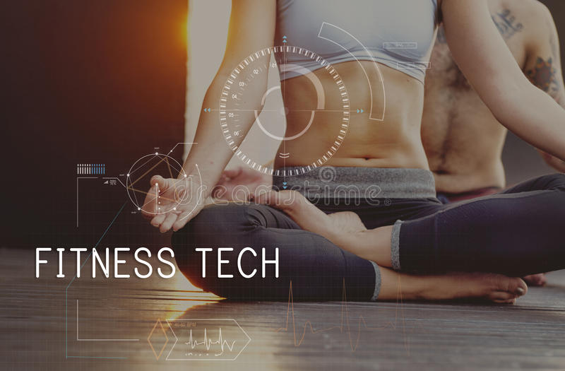 Концепция нововведения здоровья здравоохранения техника фитнеса стоковое фото rf