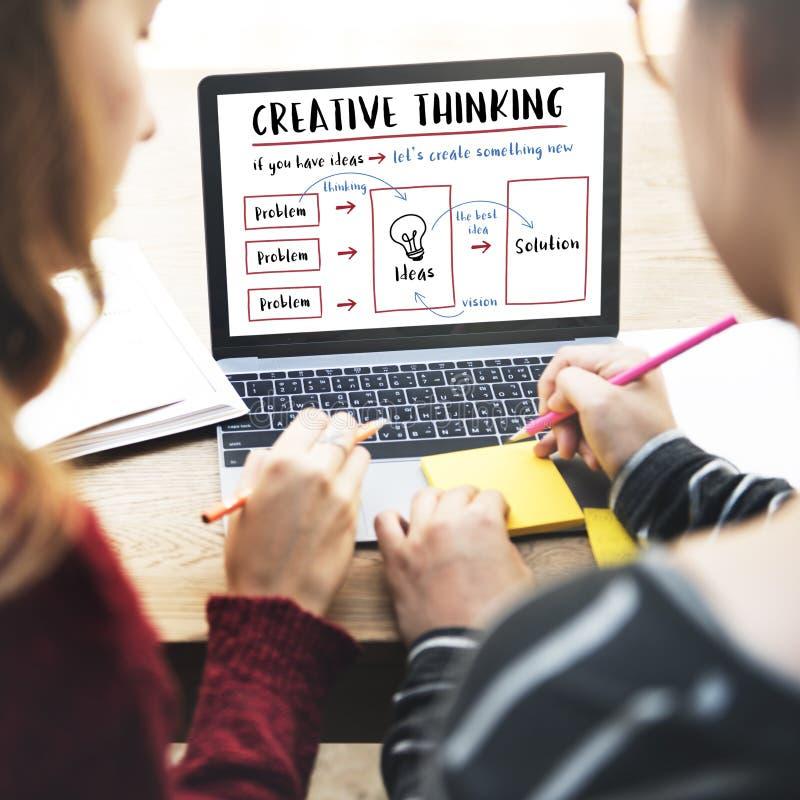 Концепция нововведения идей творческий думать стоковое изображение