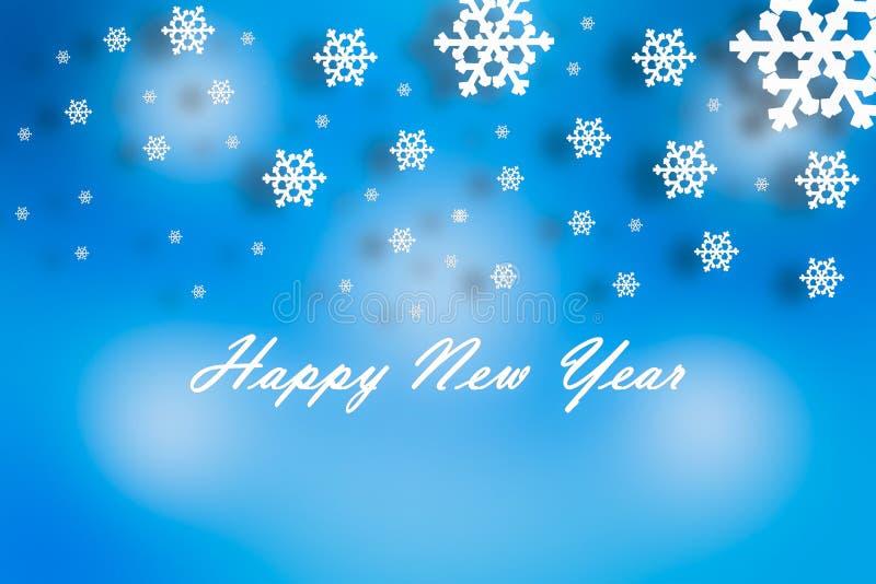 2019 концепция Нового Года рождества, падая снежинки с тенью стоковые изображения rf