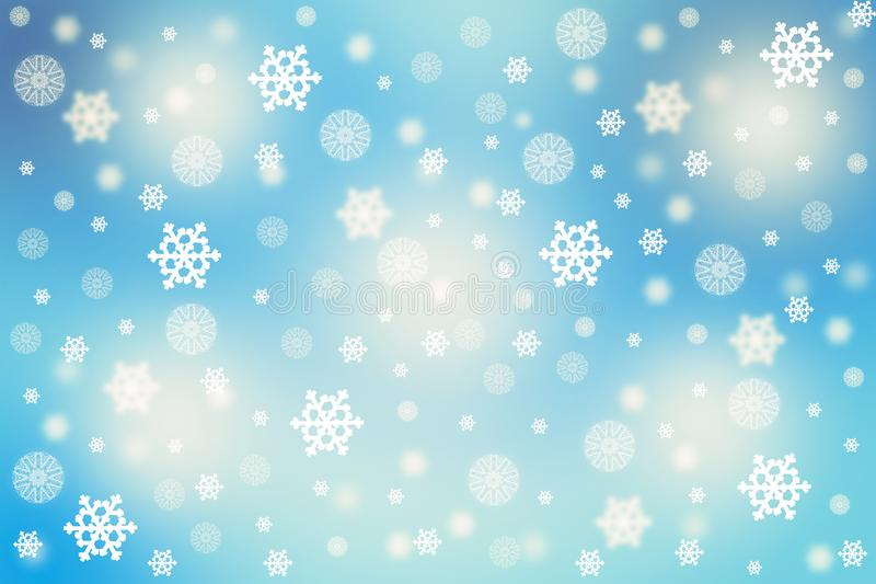 2019 концепция Нового Года рождества, падая снежинки с тенью стоковая фотография rf