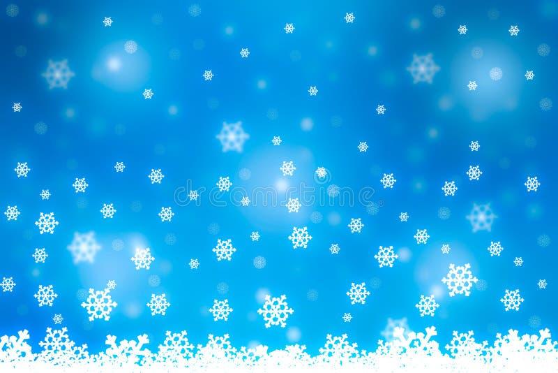 2019 концепция Нового Года рождества, падая снежинки с тенью стоковые фотографии rf