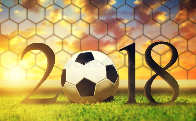 Концепция 2018 Нового Года стоковое изображение rf