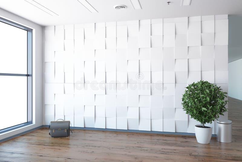Концепция нового пустого офиса иллюстрация вектора