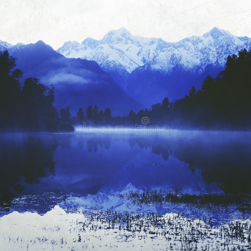 Концепция Новой Зеландии перемещения Milford Sound гор стоковые изображения