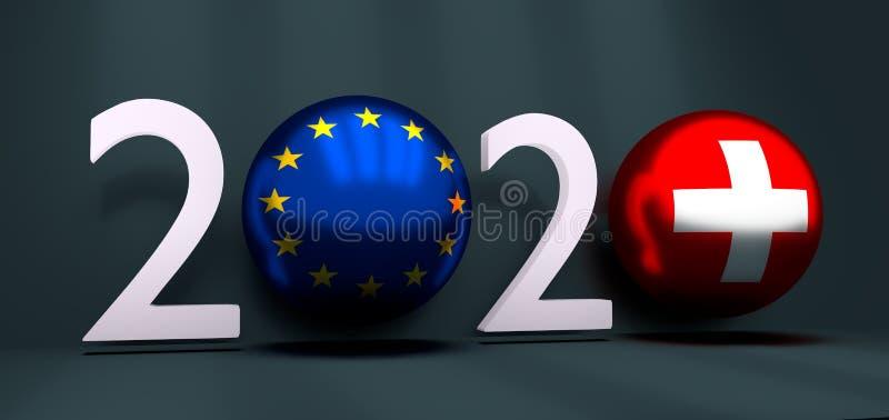 концепция 2020 Новых Годов иллюстрация вектора