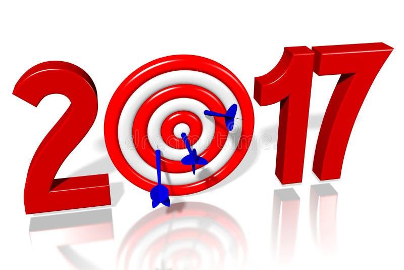 Концепция 2017 Новых Годов иллюстрация вектора