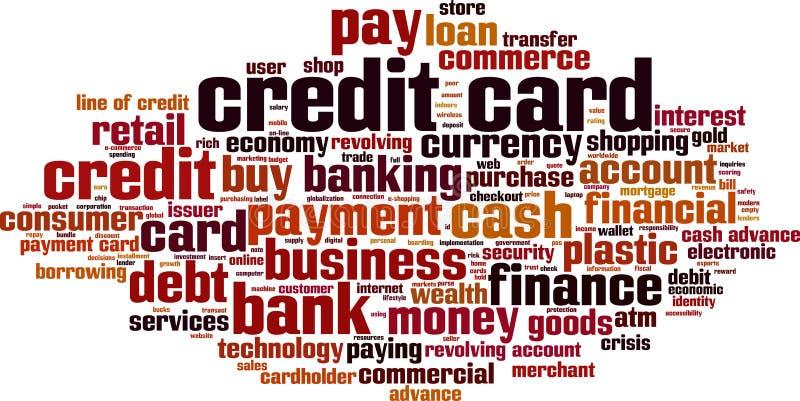 Облако слова кредитной карточки ходя по магазинам бесплатная иллюстрация
