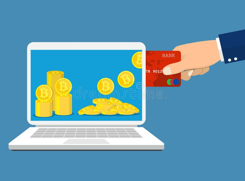 Концепция обменом Bitcoin иллюстрация штока