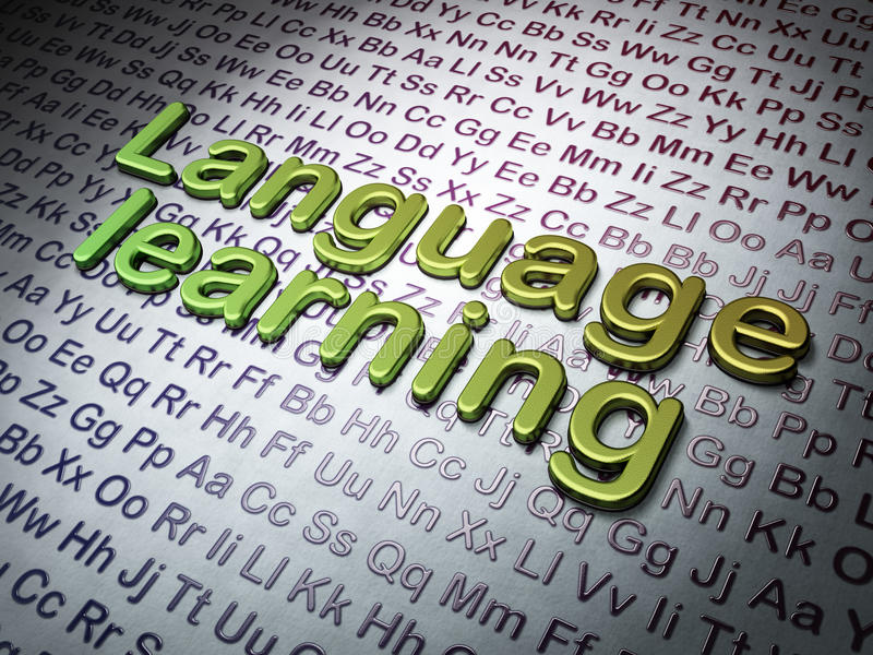 Концепция образования:  Изучение языка на предпосылке алфавита стоковое изображение rf