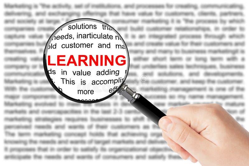 Концепция образования. Учить знак стоковое фото