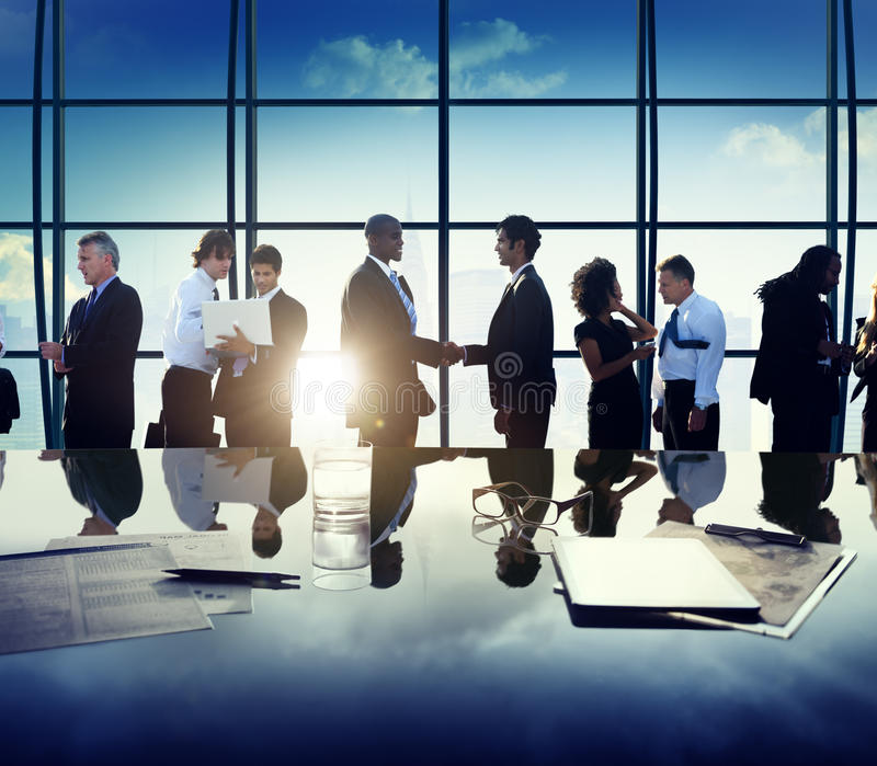 Концепция обсуждения встречи партнерства людей дела корпоративная стоковые изображения