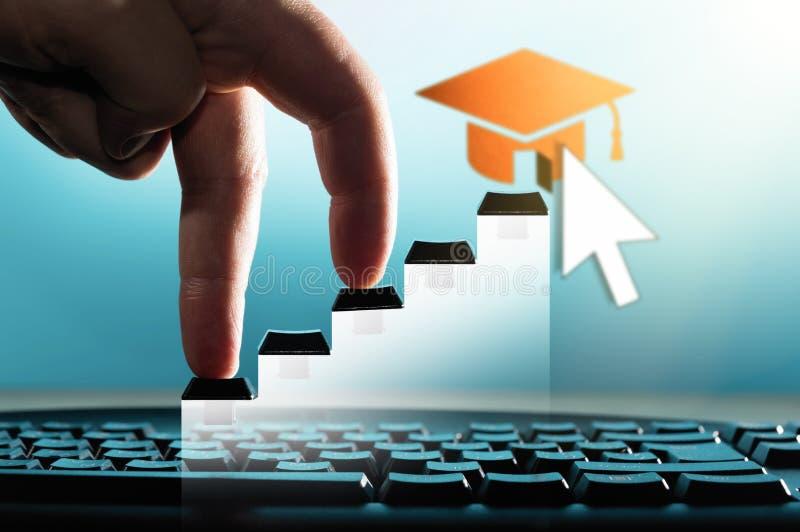 Концепция обучения по Интернету, онлайн курса, webinar стоковое фото rf