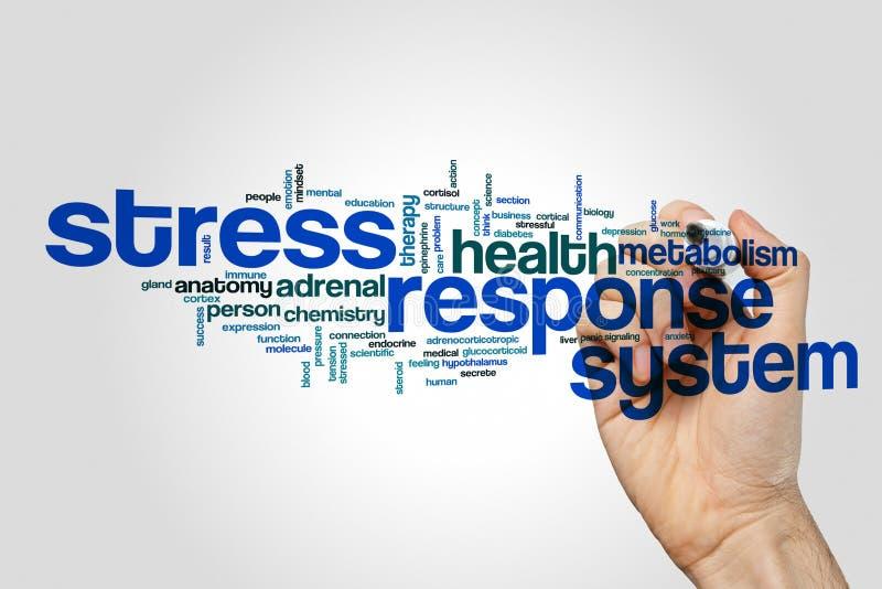 Концепция облака слова системы реакции стресса стоковая фотография rf