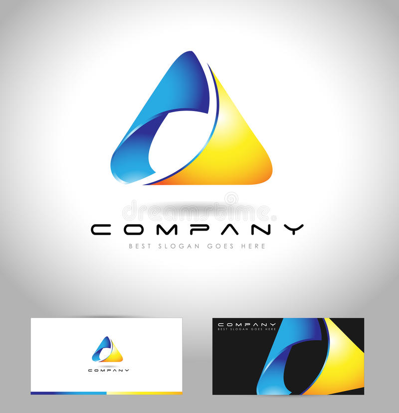 Концепция логотипа треугольника иллюстрация штока