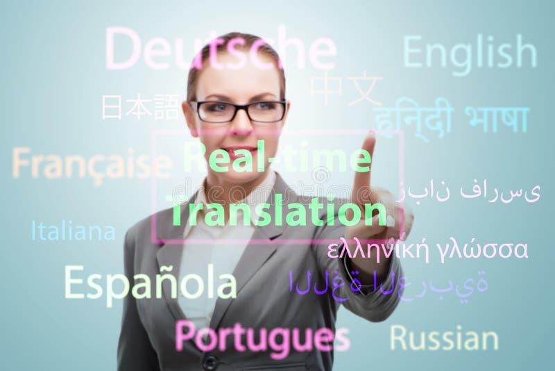 Концепция онлайн перевода от иностранного языка стоковая фотография rf