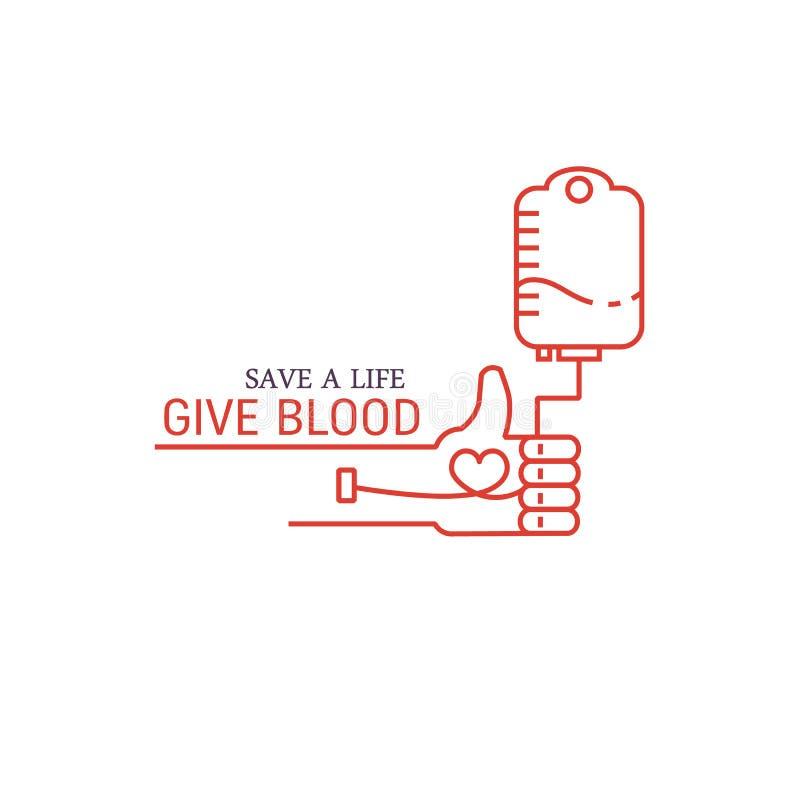 Концепция донорства крови бесплатная иллюстрация