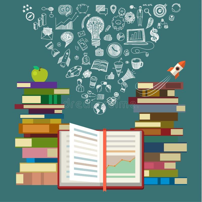 Концепция онлайн образования иллюстрация штока