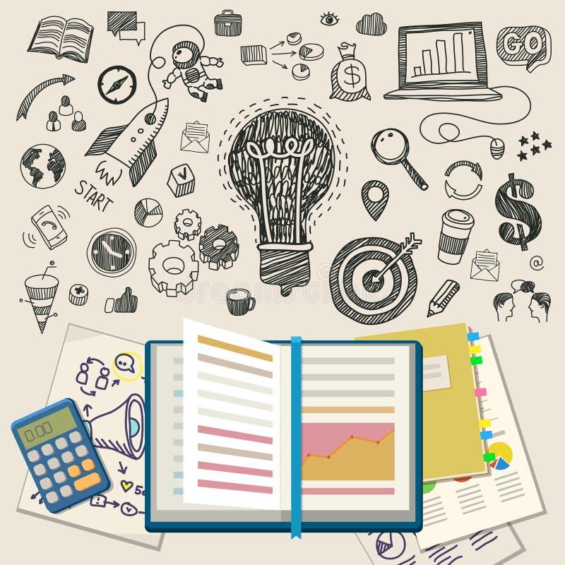 Концепция онлайн образования иллюстрация вектора