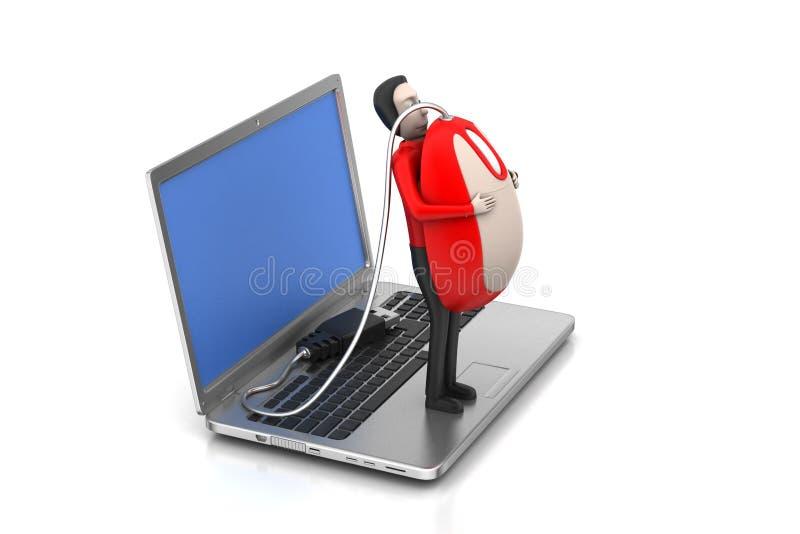 Концепция онлайн работы стоковые фото