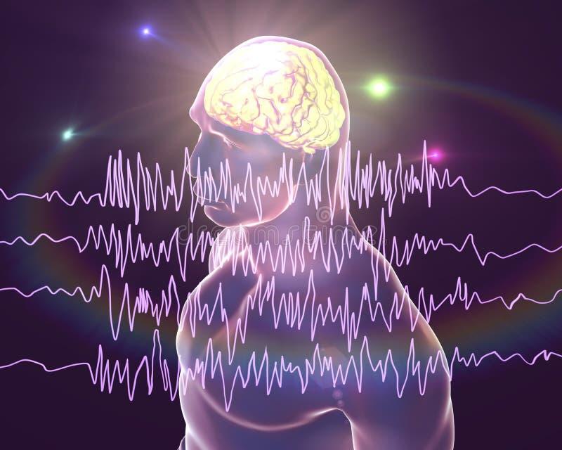 Концепция осведомленности эпилепсии иллюстрация вектора