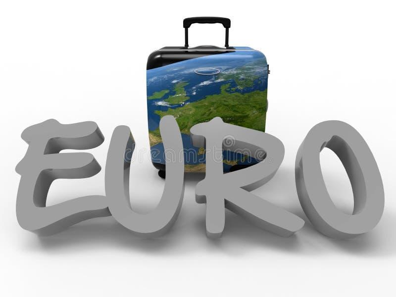 Концепция отключения евро иллюстрация штока