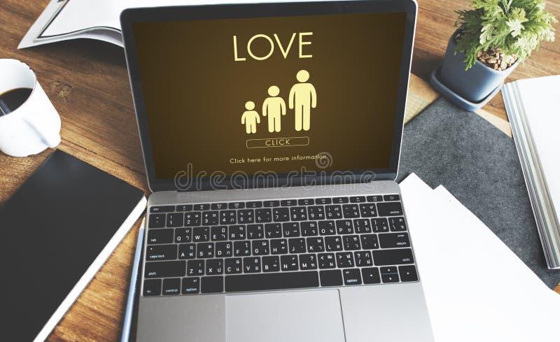 Концепция отношения единения поколений семьи влюбленности стоковое изображение