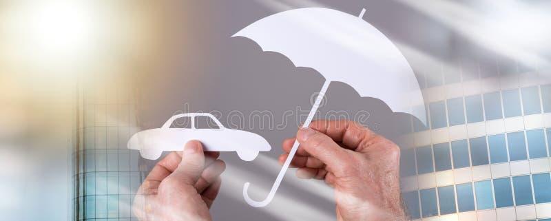 Концепция охвата автомобиля; множественная выдержка стоковая фотография rf