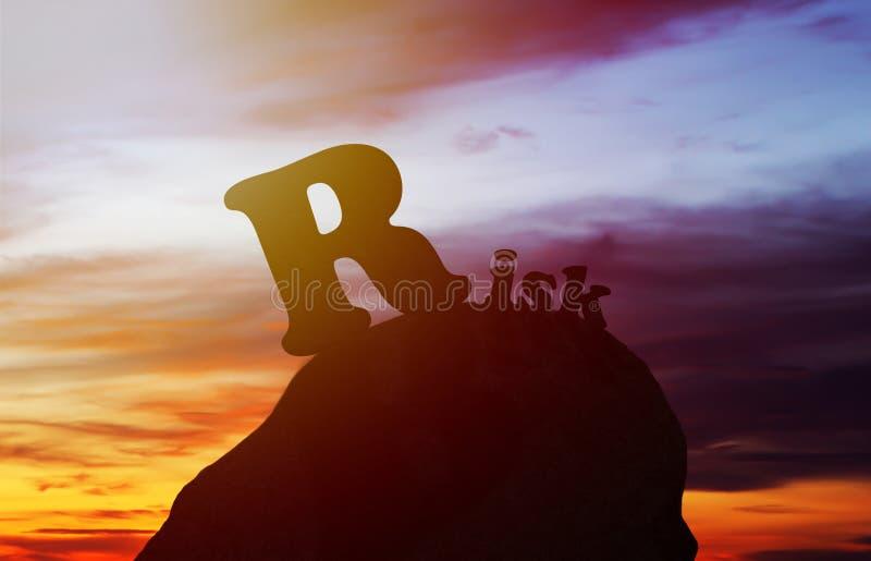 Концепция оценки степени риска стоковые изображения rf