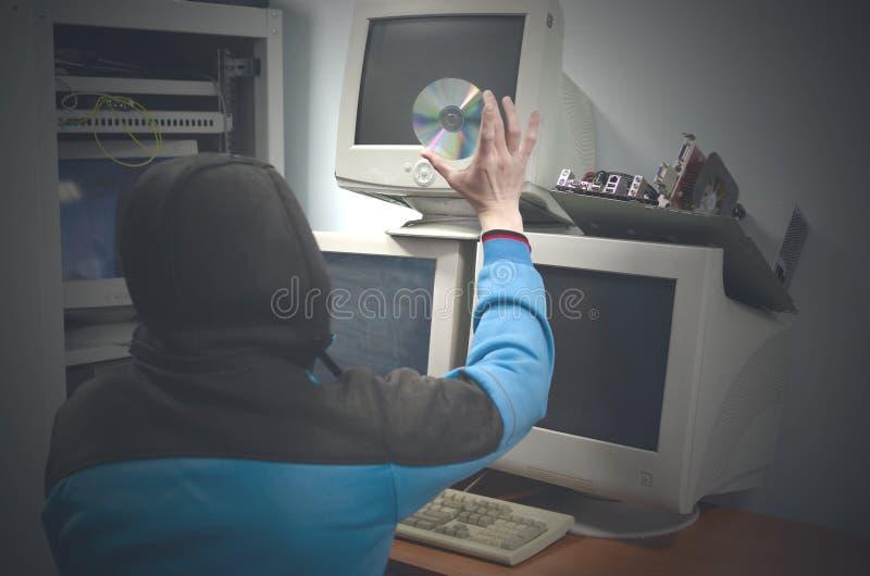 Концепция очковтирательства кибер стоковое фото