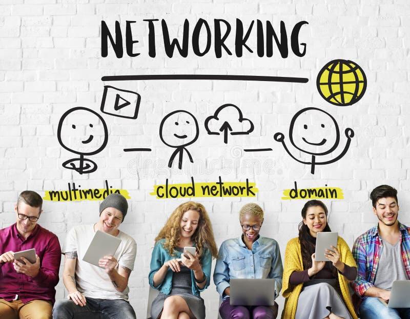Концепция доли сети соединения связи стоковая фотография