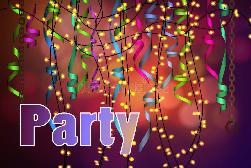Концепция партии, торжества стоковая фотография rf