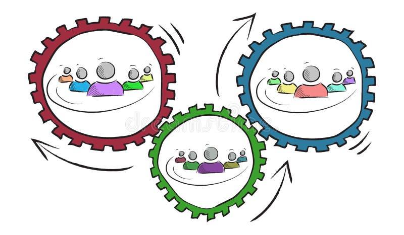 Концепция партнерства бесплатная иллюстрация