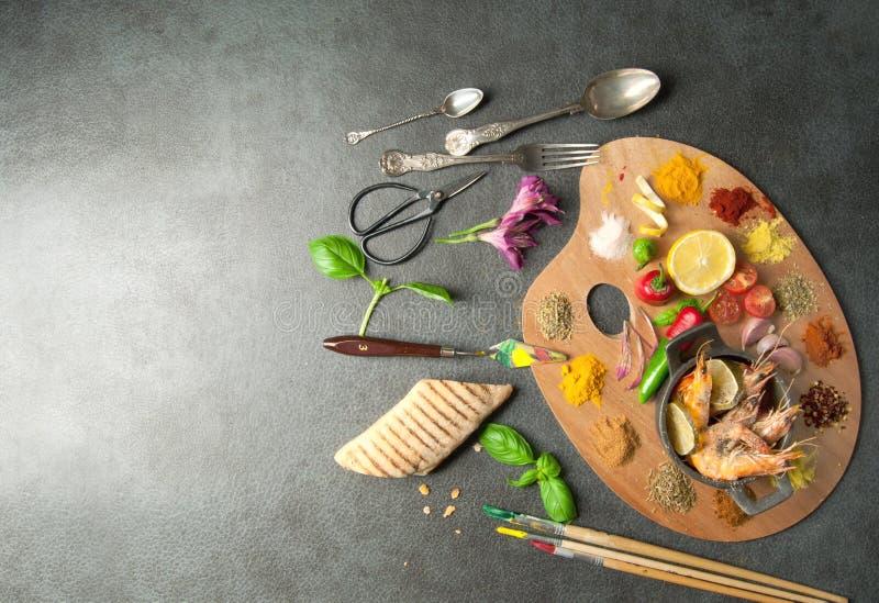 Концепция палитры еды стоковое изображение rf
