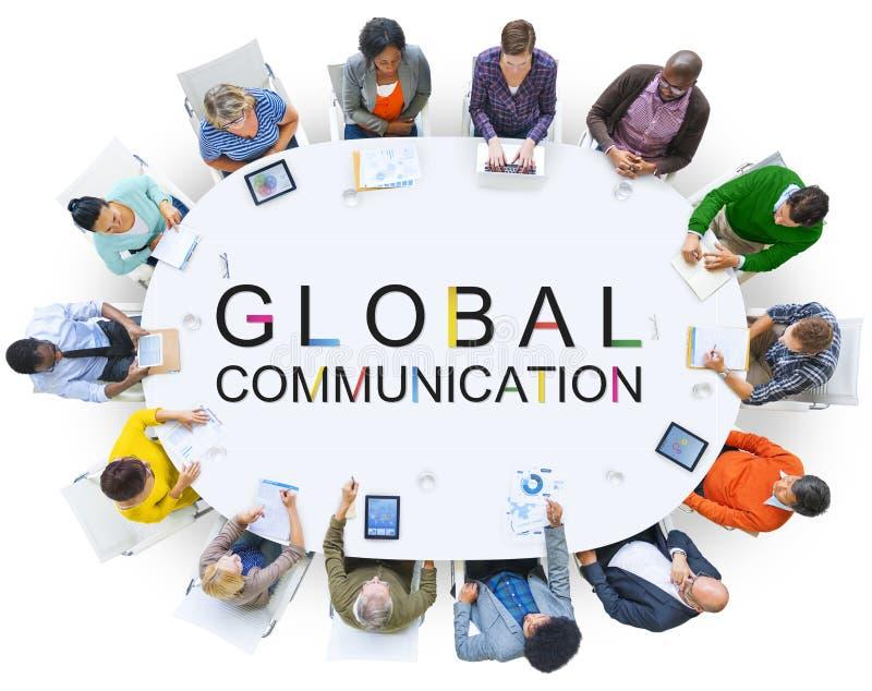 Концепция переговора соединения глобальной связи стоковое изображение