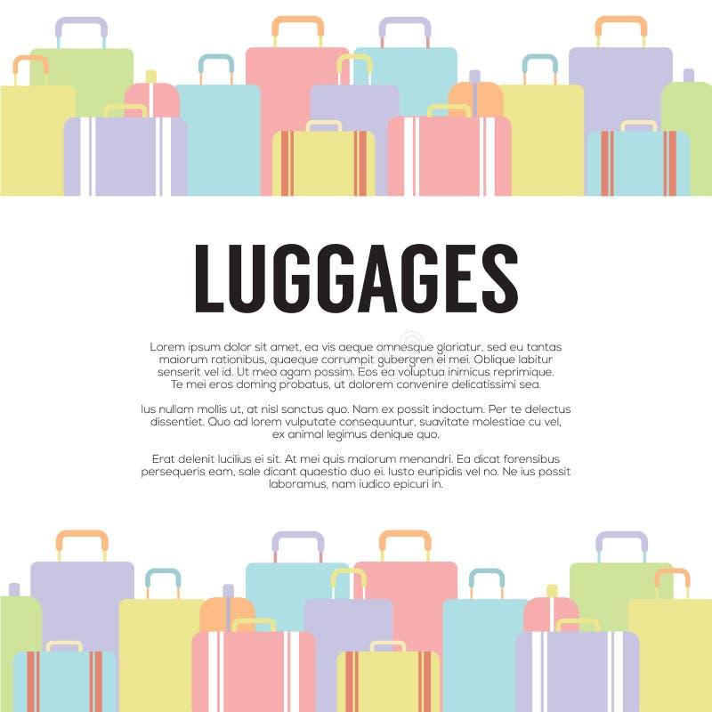 Концепция перемещения много багажей иллюстрация штока