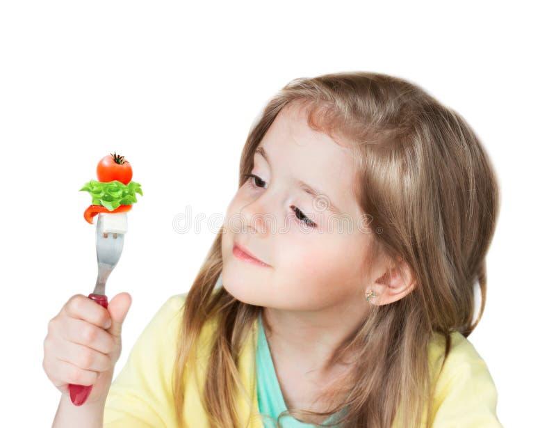 Концепция питания ребенка здоровая Овощи ребенк стоковые изображения