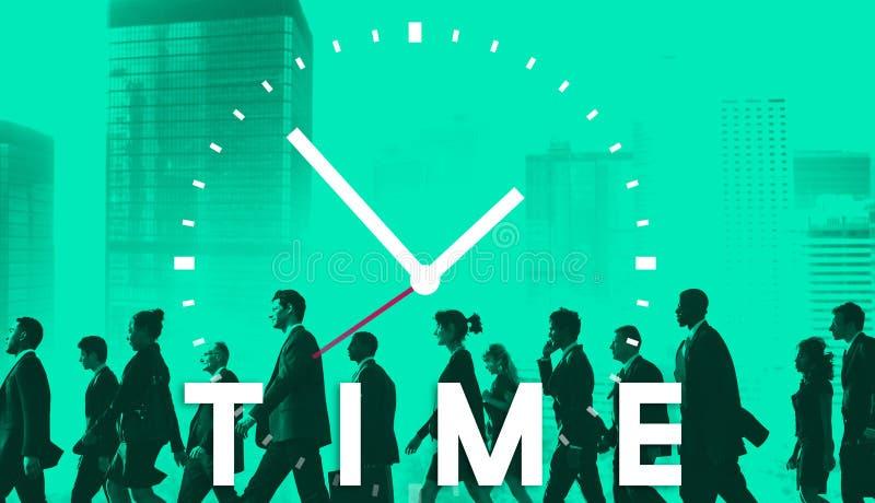 Концепция план-графика продолжительности контроля времени пунктуальная иллюстрация вектора
