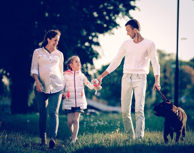 Концепция поднимать детей - маленькой девочки с беременной сумеречницей стоковое изображение