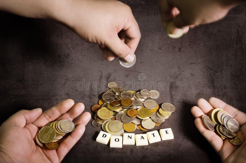 Концепция пожертвования, сбор средств для причины стоковые изображения rf