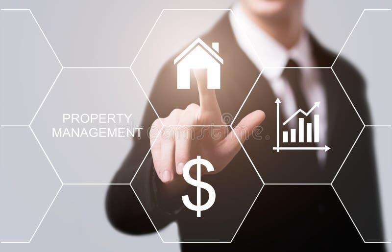 Концепция покупки ренты ипотеки недвижимости управления свойства стоковое фото