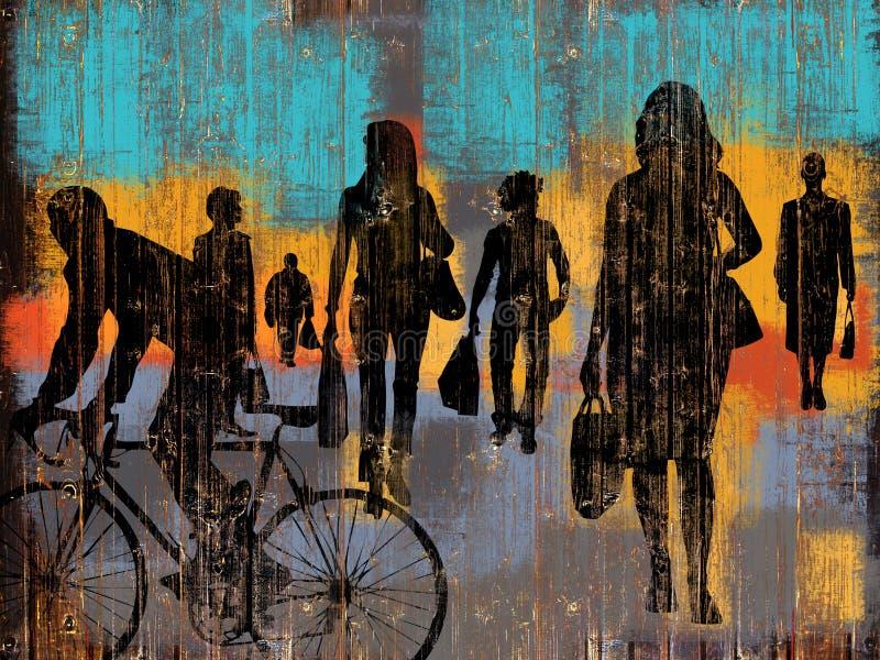 Концепция покупок группы людей бесплатная иллюстрация