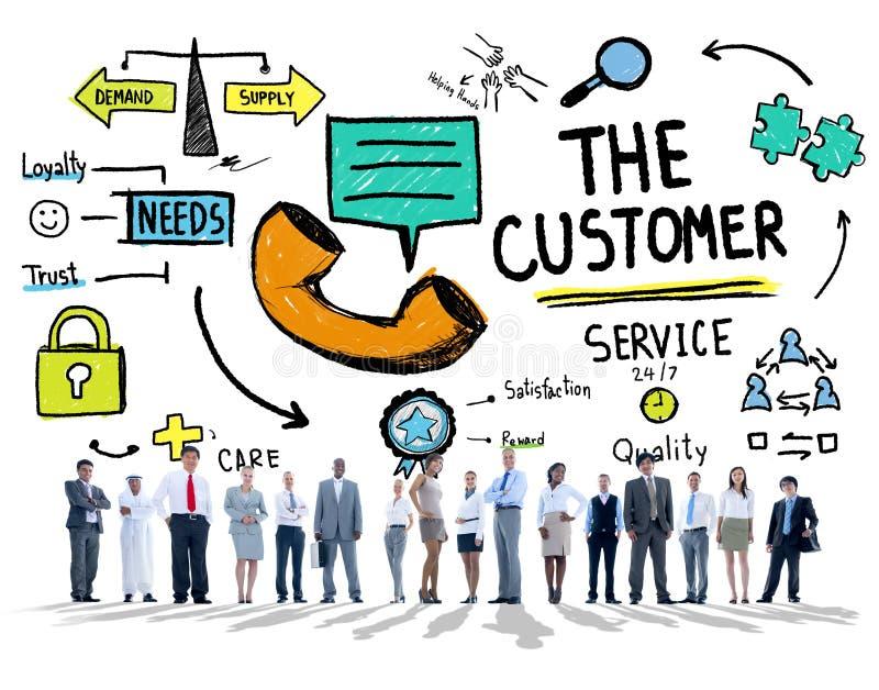 Концепция помощи поддержания рынка цели обслуживания клиента бесплатная иллюстрация
