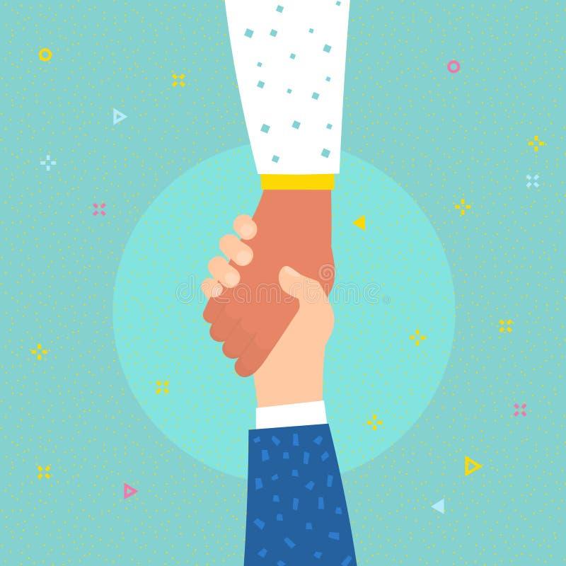 Концепция помощи Рука удерживания руки для помощи и надежды иллюстрация вектора
