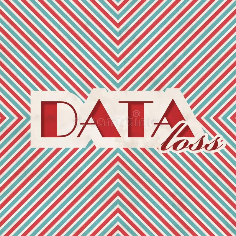 Концепция потери данных в плоском дизайне бесплатная иллюстрация